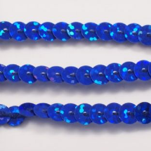 OFFER 6mm Strung Sequins. Hologram Royal Blue x 5 metres BUY 1 GET 1 FREE